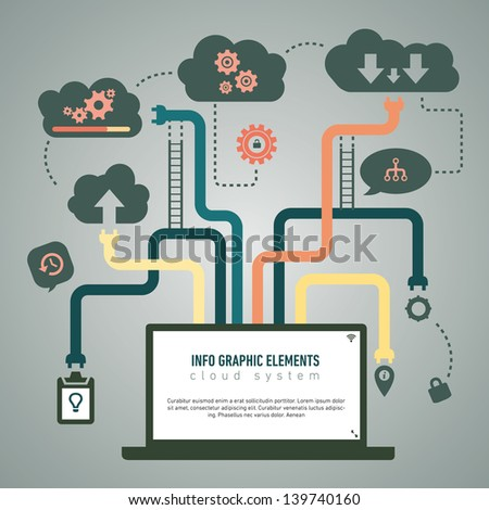 Cloud Info graph - stock vector
