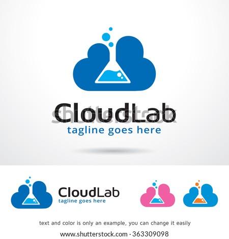 Cloud Lab Logo Template Design Vector  - stock vector