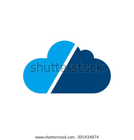 cloud logo. cloud computing template. creative. internet global. upload. data transfer. download website. technology icon. network symbol.   - stock vector