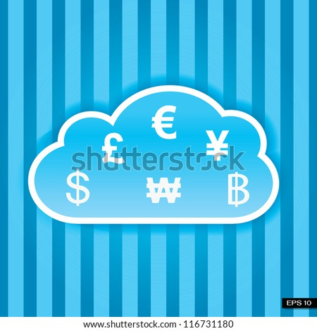 Cloud money concept - stock vector