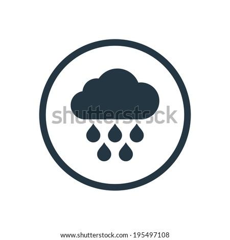 cloud rain icon - stock vector