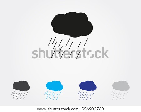 cloud, rain, icon, vector illustration eps10