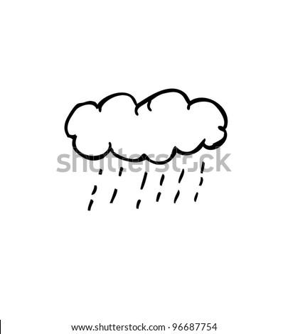 cloud raining weather- vector illustration - stock vector