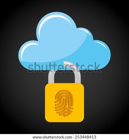cloud security design, vector illustration eps10 graphic