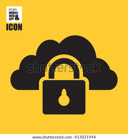 Cloud security icon - stock vector