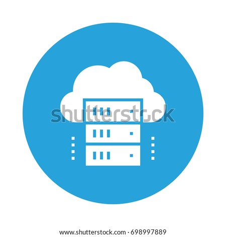 cloud server icon stock vector royalty free 698997889 shutterstock