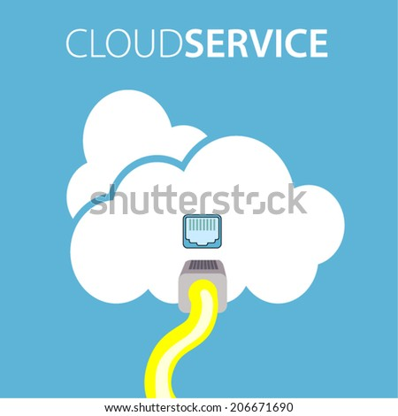 cloud service connect - stock vector