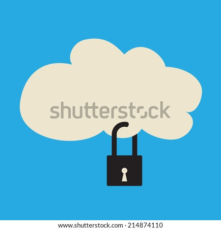 cloud service is locked security or availability problem concept
