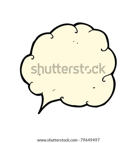 cloud speech bubble cartoon - stock vector