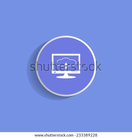 cloud storage on the computer - stock vector