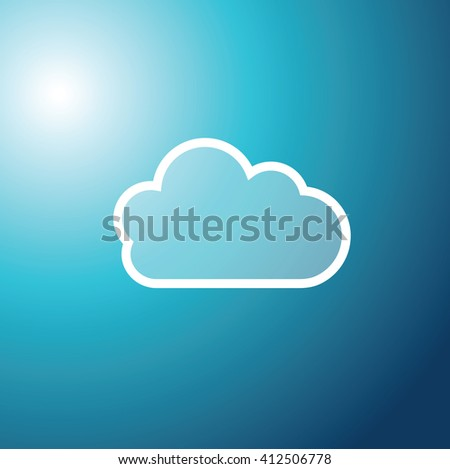 Cloud technology background - graphic element