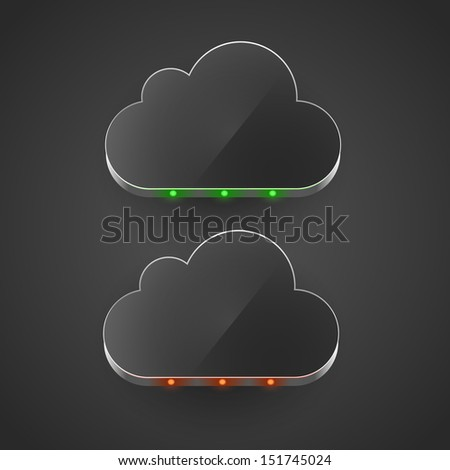 Cloud technology computing concept led cloud vector illustration. - stock vector