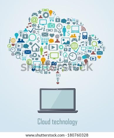 Cloud technology illustration eps 8 - stock vector