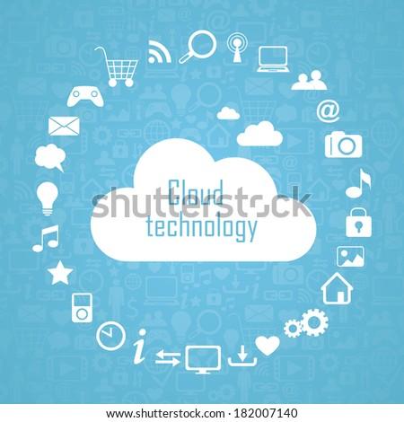 Cloud technology illustration eps10 - stock vector