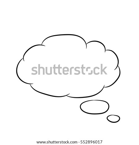 Cloud thought fly white of vector illustrations
