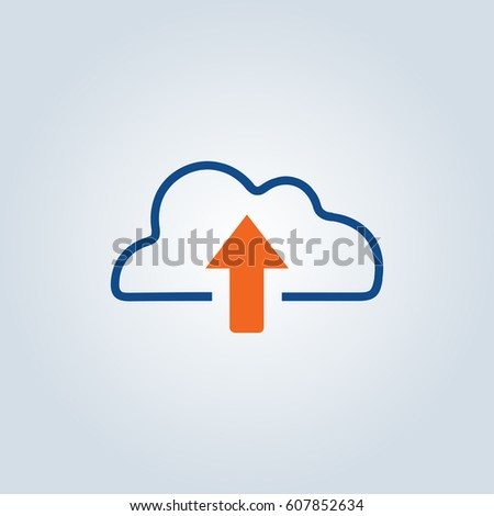 Cloud upload, linear icon.