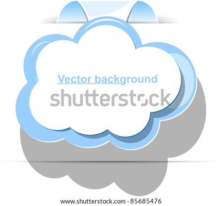 cloud vector - stock vector