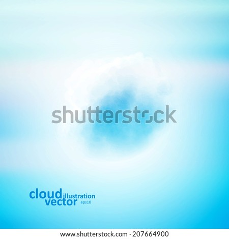 Cloud vector background, creative style illustration eps10 - stock vector
