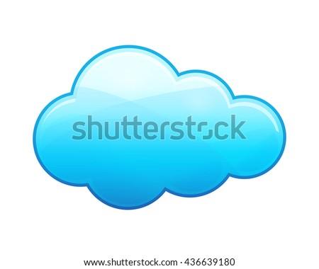 Cloud .Vector illustration - stock vector