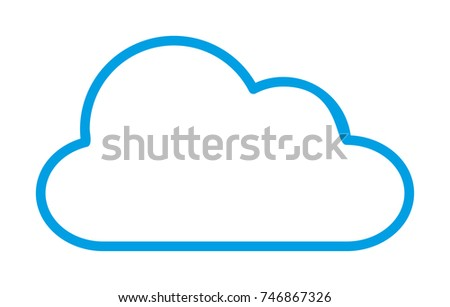 Cloud Vector Outline Icon
