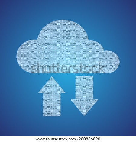 Cloud with data concept - stock vector
