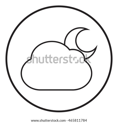 Cloud with moon web icon