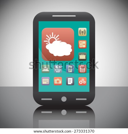 cloud with sun weather vector icon