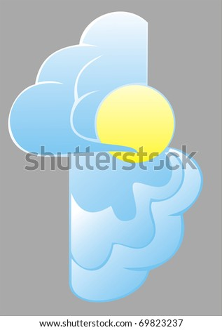 Clouds and sun - stock vector