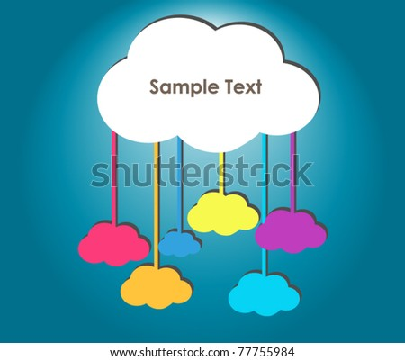 Clouds are connecting - stock vector