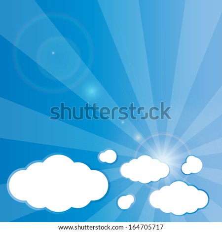 Clouds Blue Background