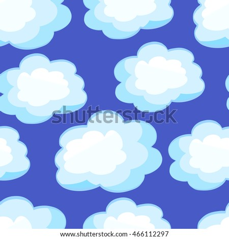 Clouds cartoon, seamless background , vector illustration