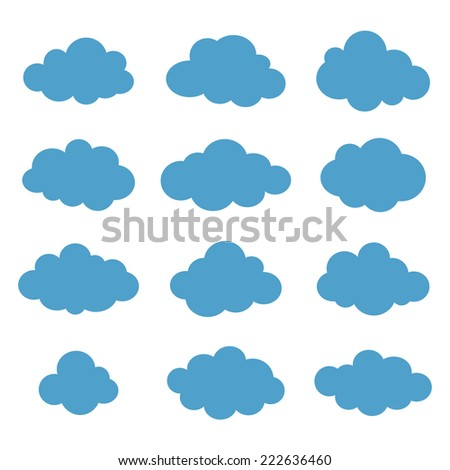 Clouds collection. Cloud shapes pack. Vector. - stock vector