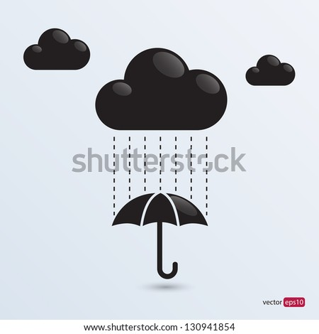 Clouds for social networks on gray background. Cloud computing concept. Vector illustration. - stock vector