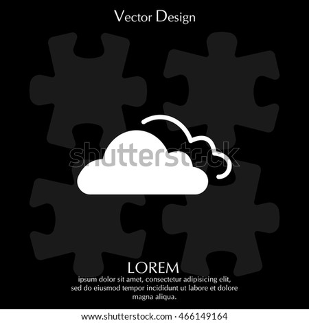clouds icon, vector illustration.