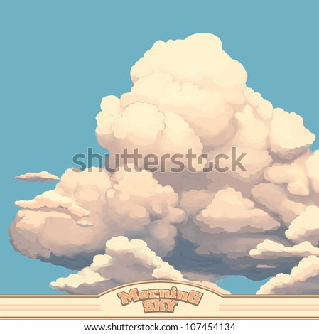 Clouds in a morning Sky - stock vector