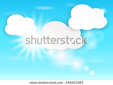 Clouds in the blue sky. Vector EPS10.