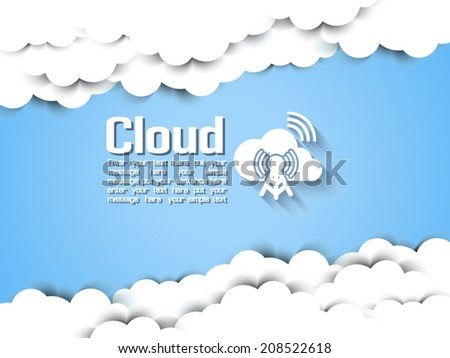 CLOUDS INFOGRAPHIC MODERN NEW VERSION - stock vector