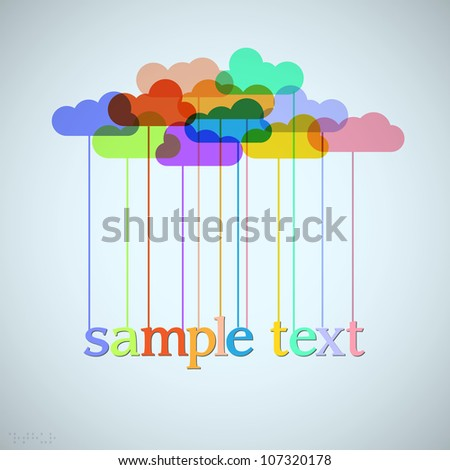 Clouds of rainbow. Vector background for design - stock vector