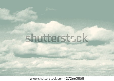 clouds, retro engraving style. vector illustration - stock vector