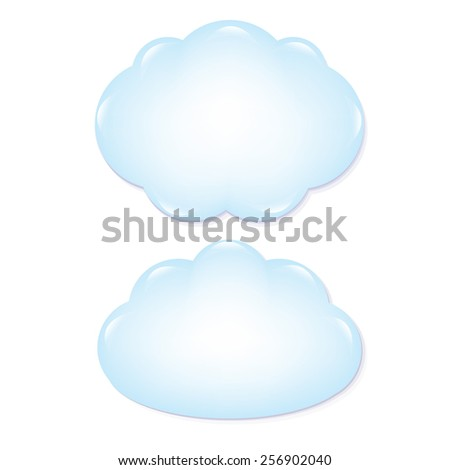 Clouds Set With Gradient Mesh, Vector Illustration - stock vector