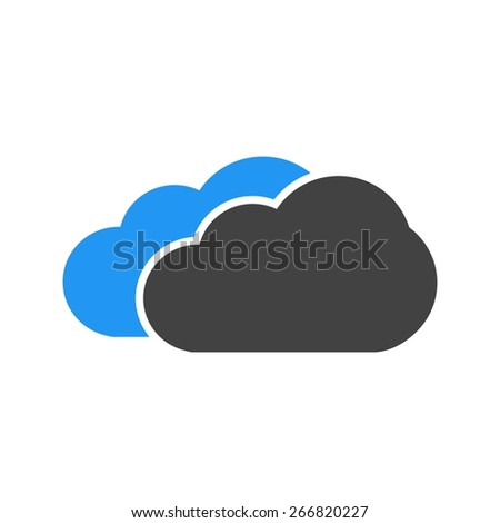 Clouds, sky, rain icon vector image. Can also be used for weather, forecast, season, climate, meteorology. Suitable for web apps, mobile apps and print media.