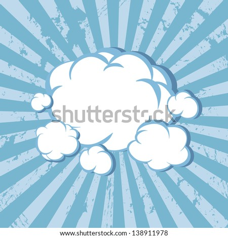 Clouds striped background. Vector illustration - stock vector