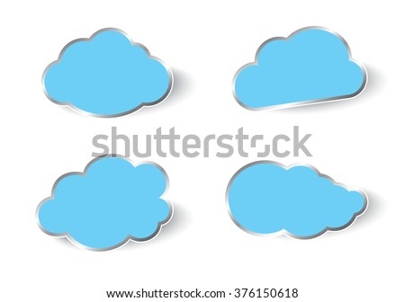 Clouds vector collection. Vector illustration.
