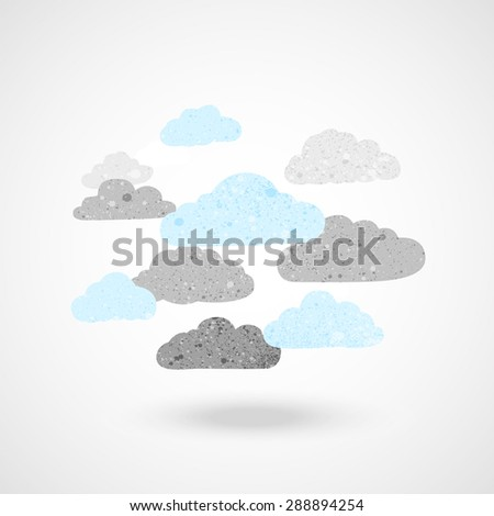 cloudy group sign with texture vector illustration. - stock vector