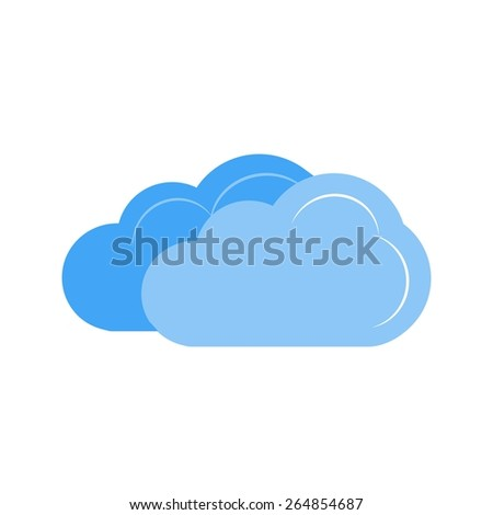 Cloudy vector image recommended for use in web applications, mobile applications, and print media.