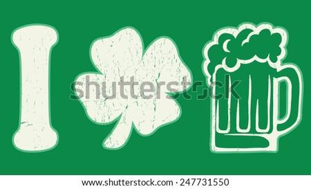 clover beer - stock vector