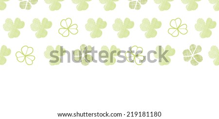 clover geometric textile textured horizontal seamless pattern background - stock vector