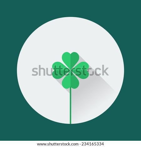 Clover icon. St. Patrick's Day flat design - stock vector