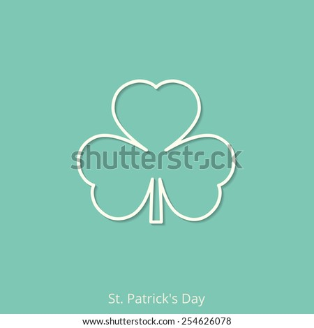 Clover leaf icon. St. Patrick's day card. Vector illustration, EPS 10. - stock vector