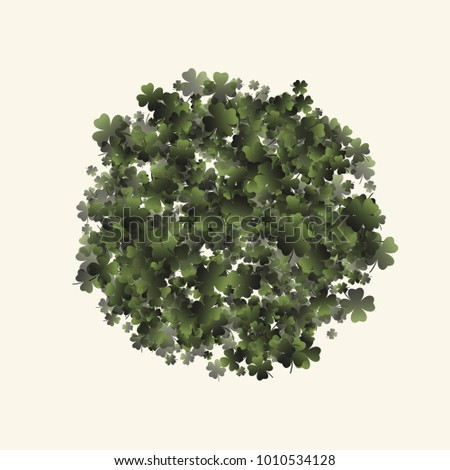 Clover leaf is a confetti which consist of many isolated elements. Stylish and beautiful clover leaf. Can be used as poster, border, background, wallpaper, card and etc